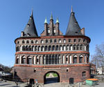 Foto, Bild: Holstentor in Lübeck